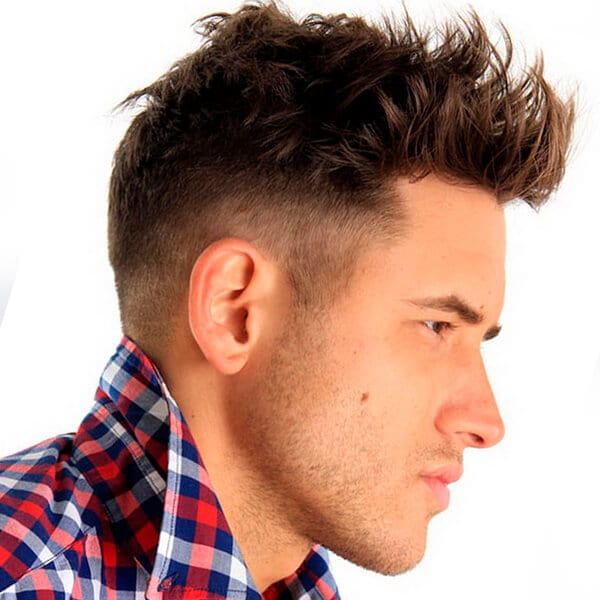 Edgy men's undercut hairstyle