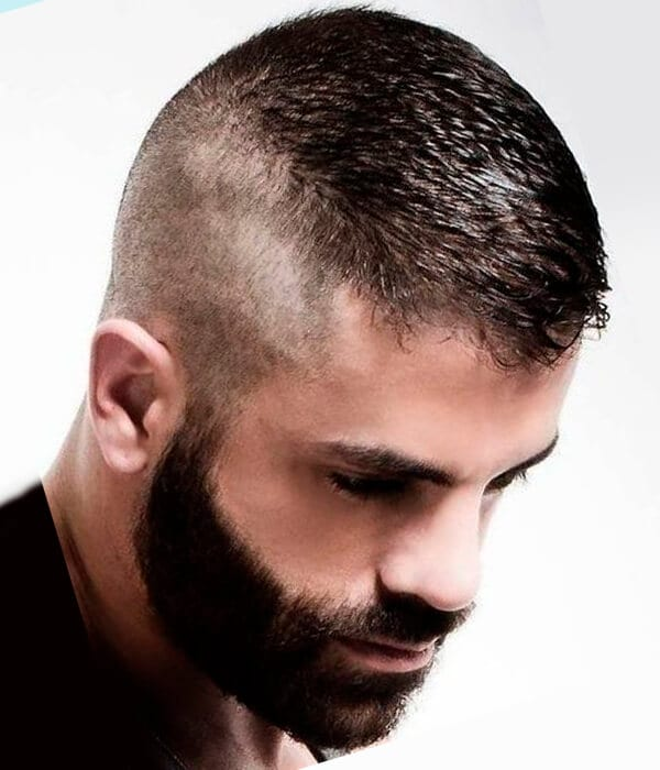 High and tight recon men's haircut
