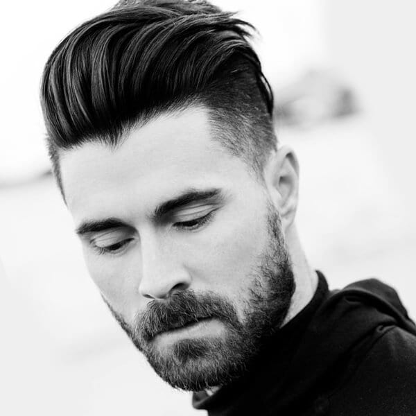 Layered men's undercut hairstyle