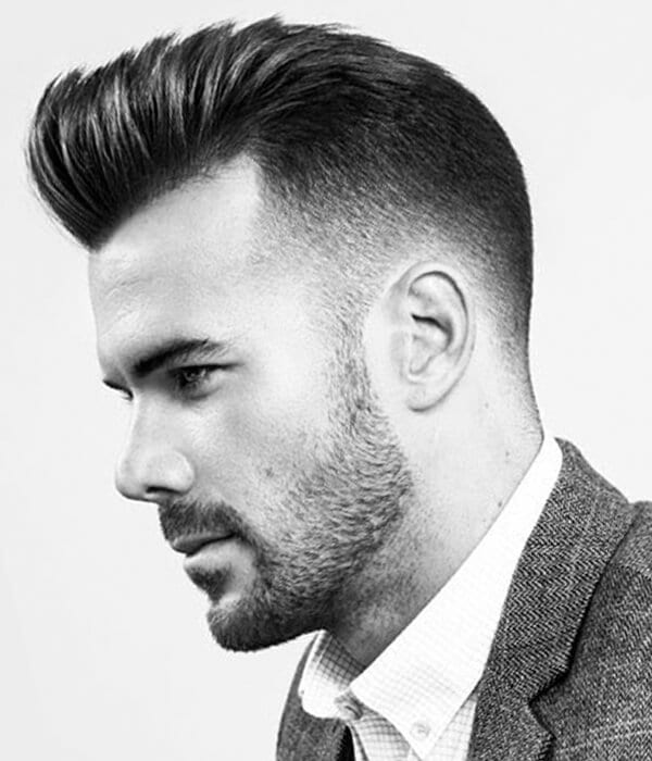 Pompadour men's haircut