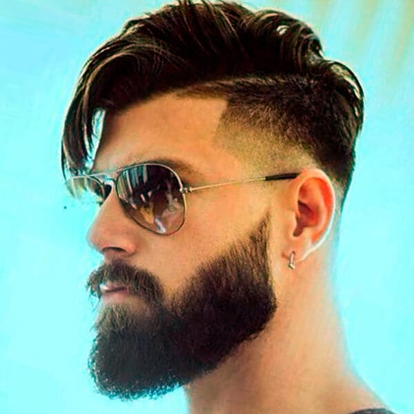 Side-swept men's undercut hairstyle