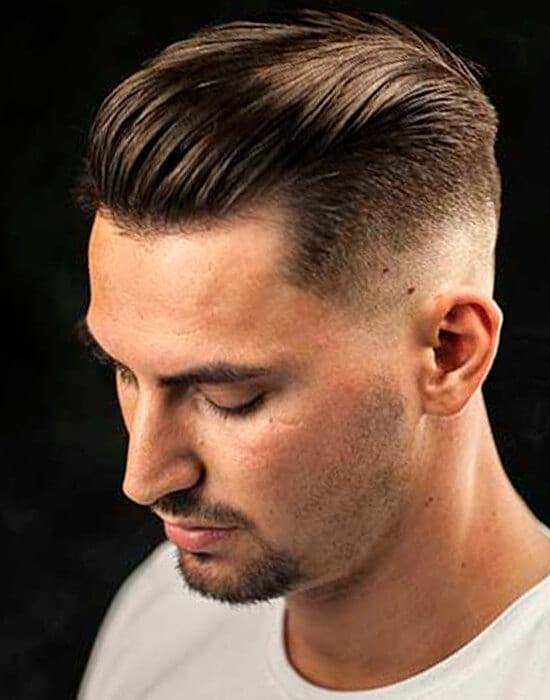 Undercut men's short haircut