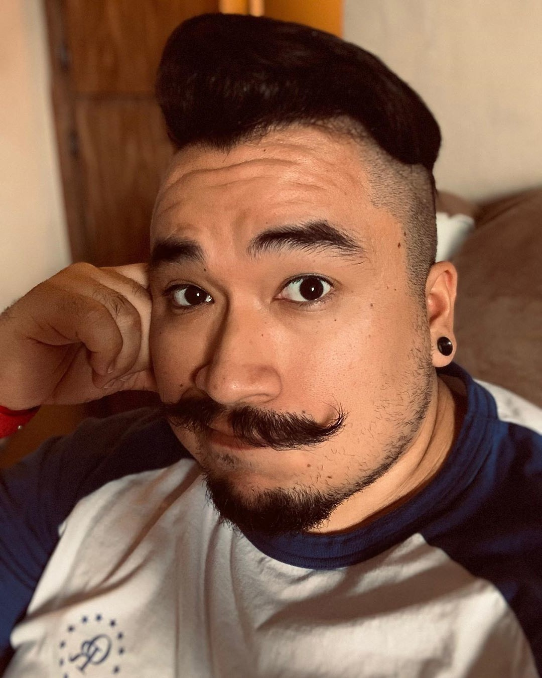 Asian Disconnected Undercut + Mustache