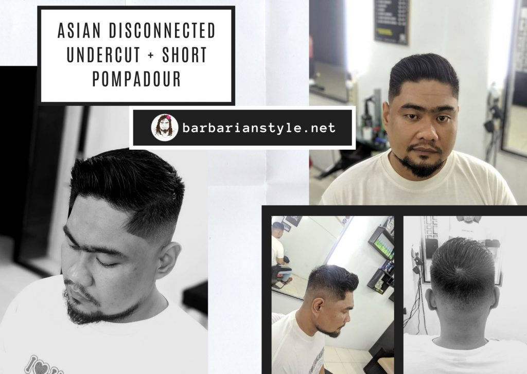 Asian Disconnected Undercut + Short Pompadour