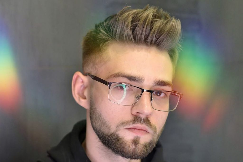 Disconnected Undercut Quiff Haircut