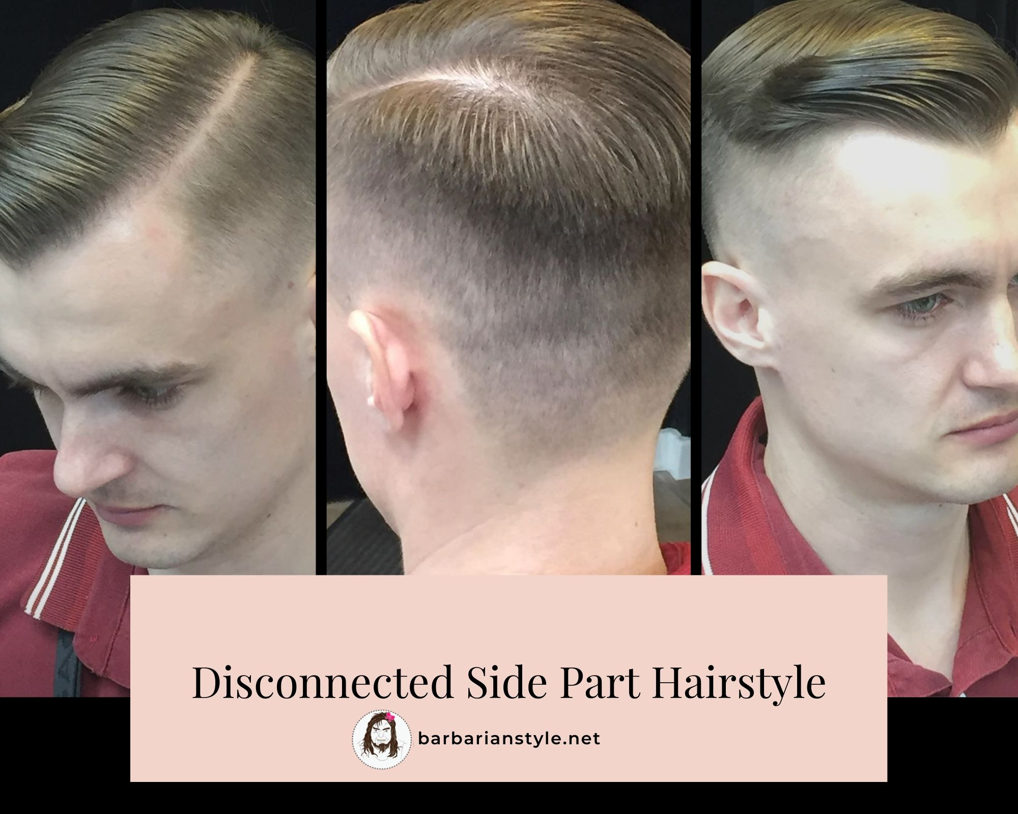 Disconnected Side Part Hairstyle