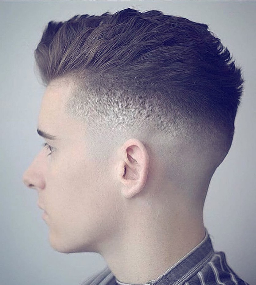 Fade Pompadour Hairstyle