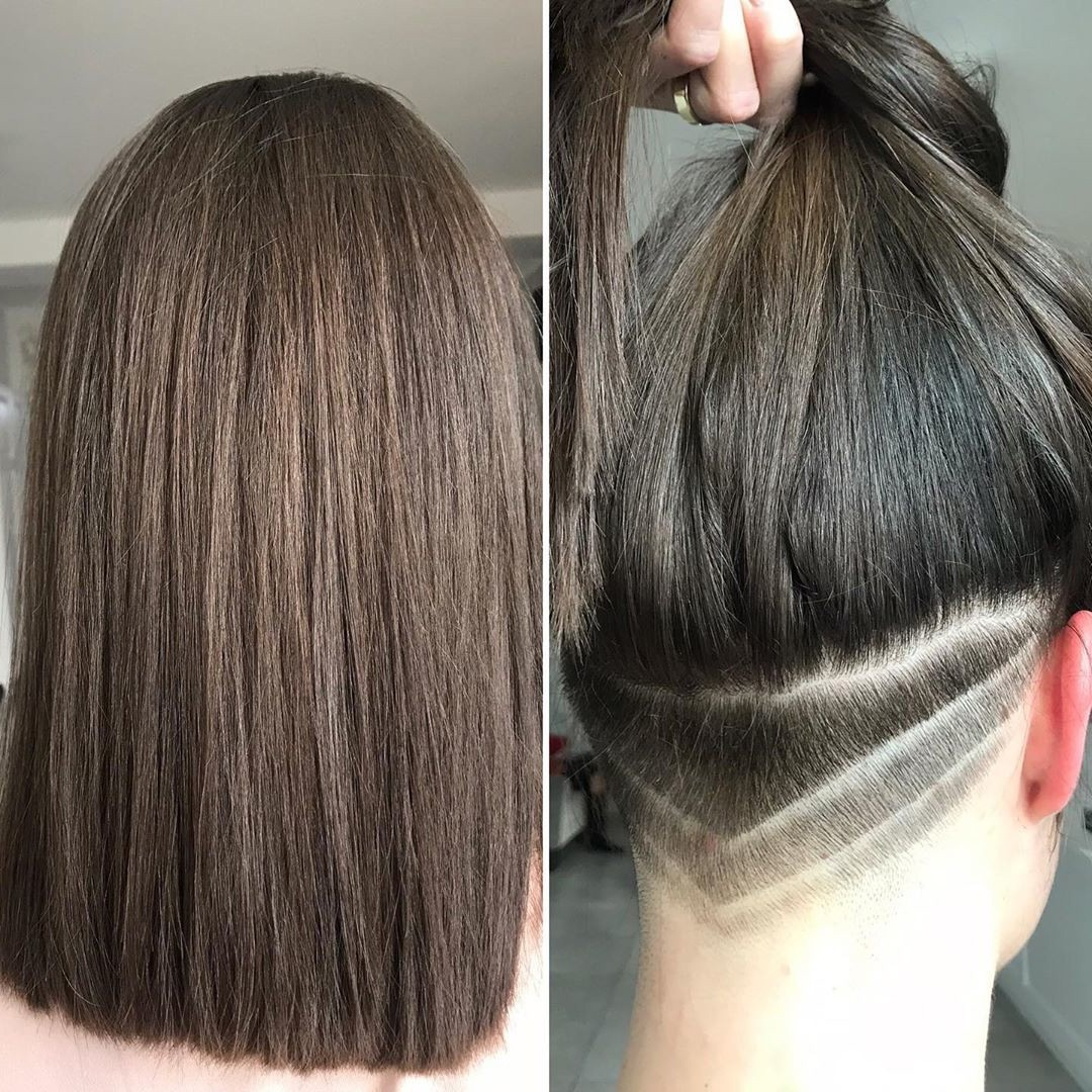 Hidden Undercut Hairstyle for Long Hair