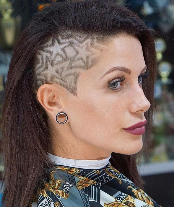 Tattoo Star Hairstyle for Girls