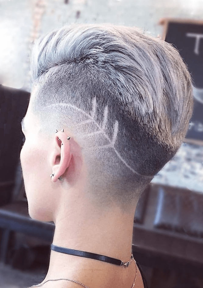 Undercut Fade Back Hairstyle for Women