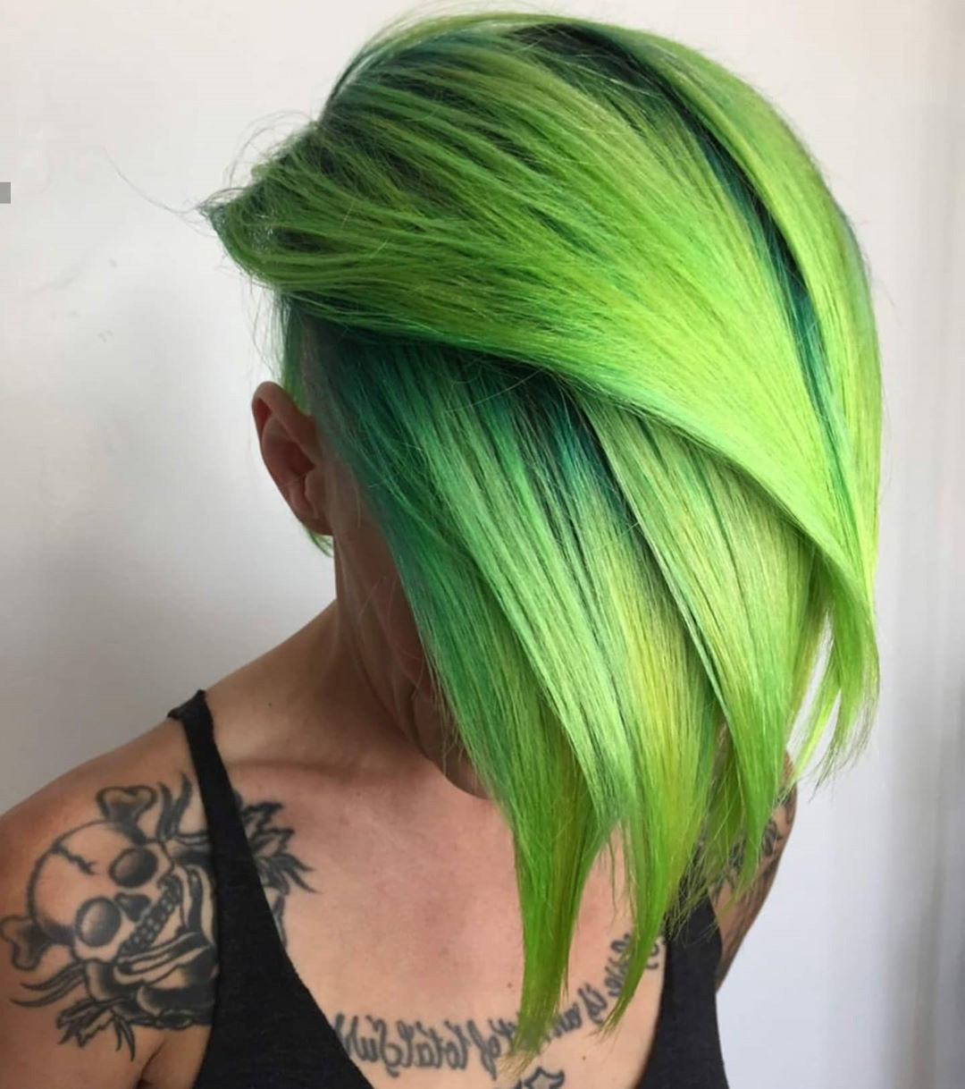 Hairstyle for Green Side Bangs