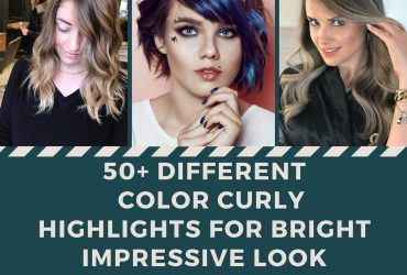 Different Color Curly Highlights for Bright Impressive Look