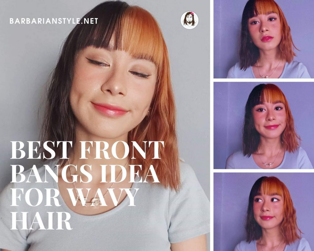 best front bangs idea for wavy hair