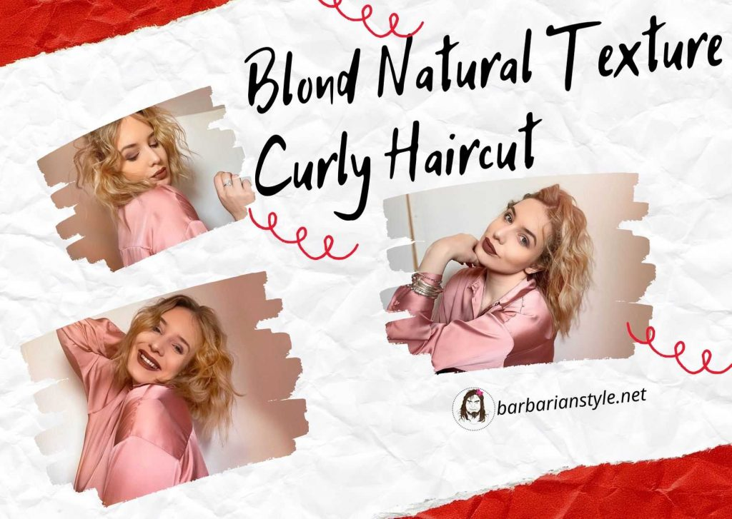 blond natural texture curly haircut