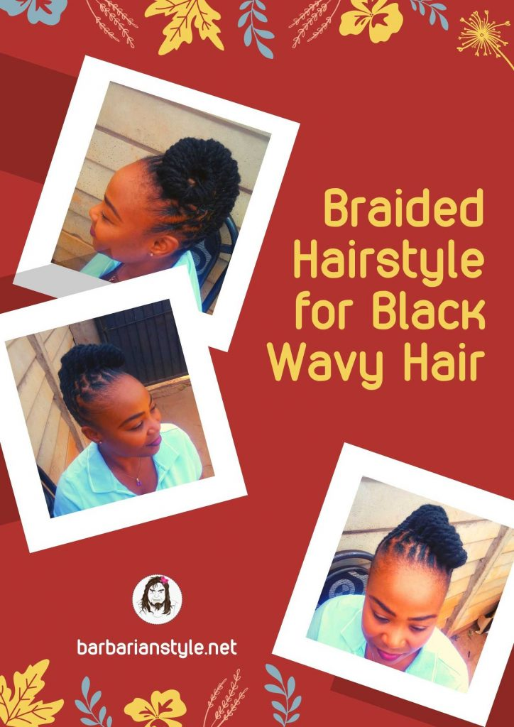 braided hairstyle for black wavy hair
