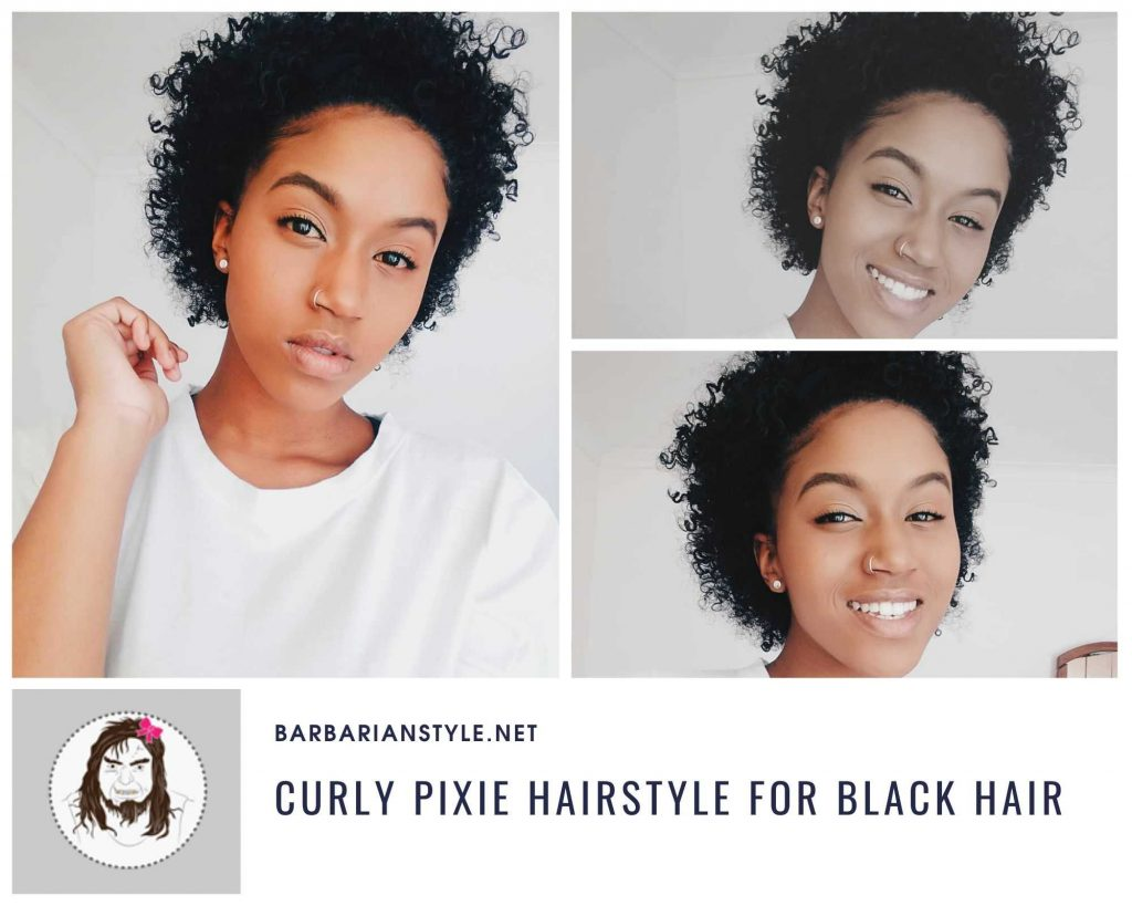 curly pixie hairstyle for black hair