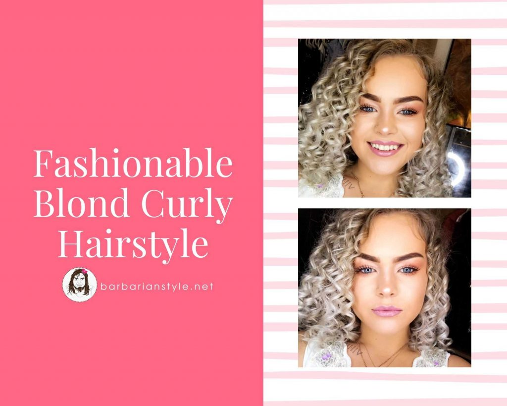 fashionable blond curly hairstyle