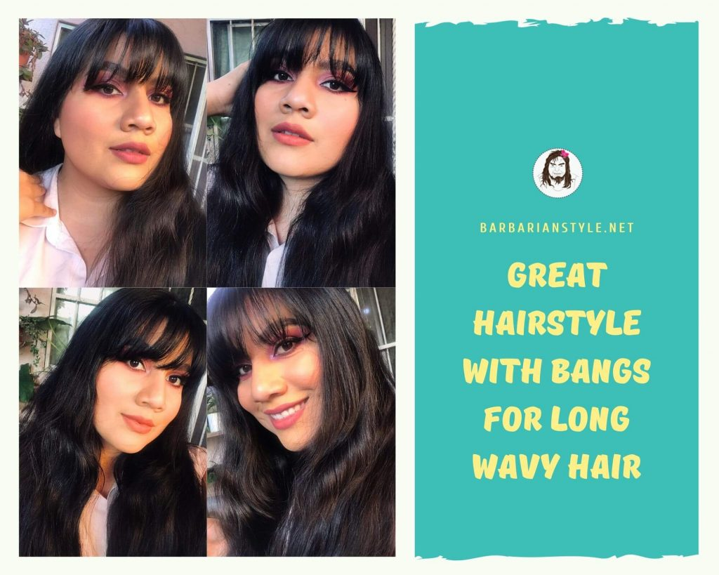 great hairstyle with bangs for long wavy hair