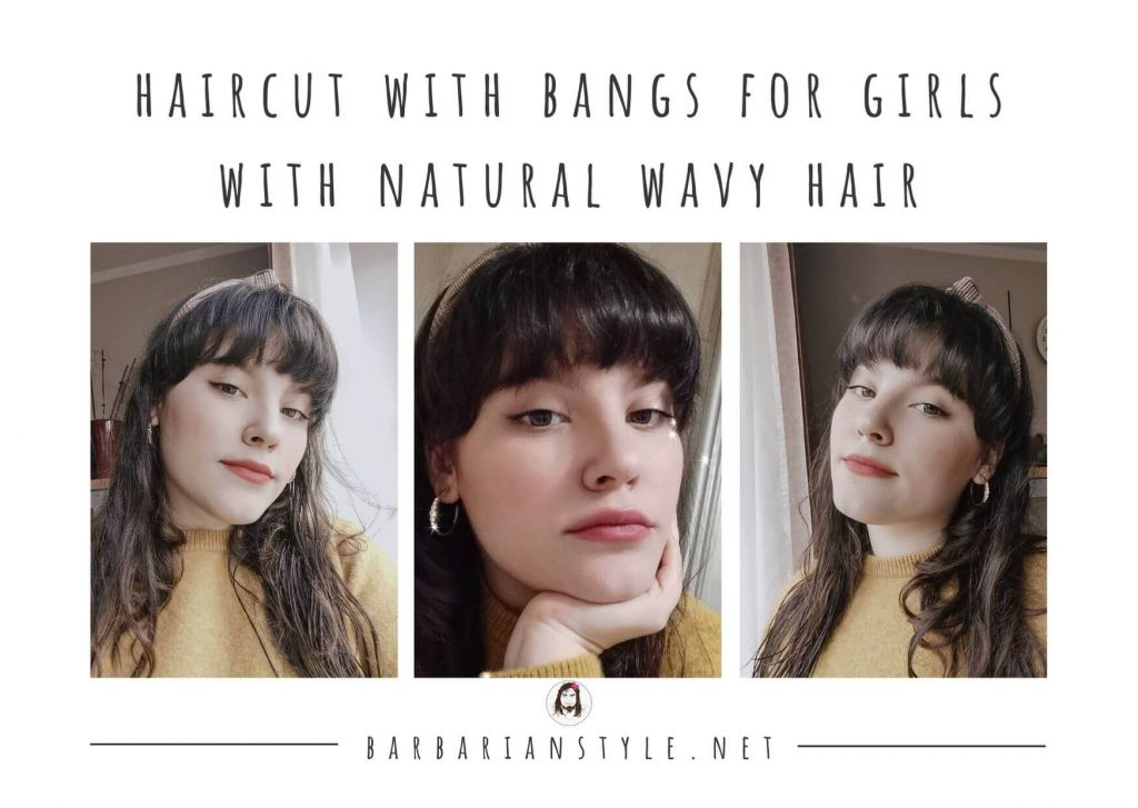 haircut with bangs for girls with natural wavy hair