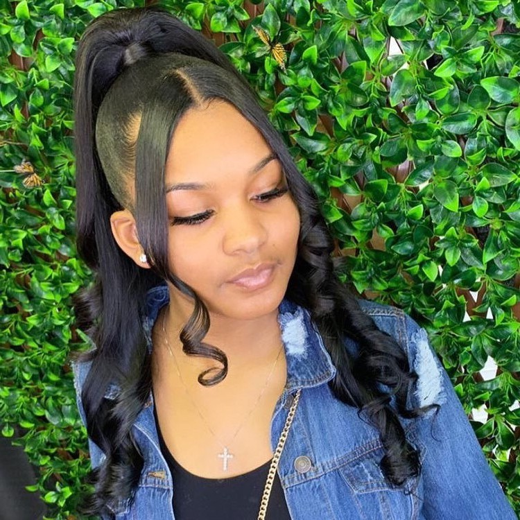 half up half down hairstyle for black hair