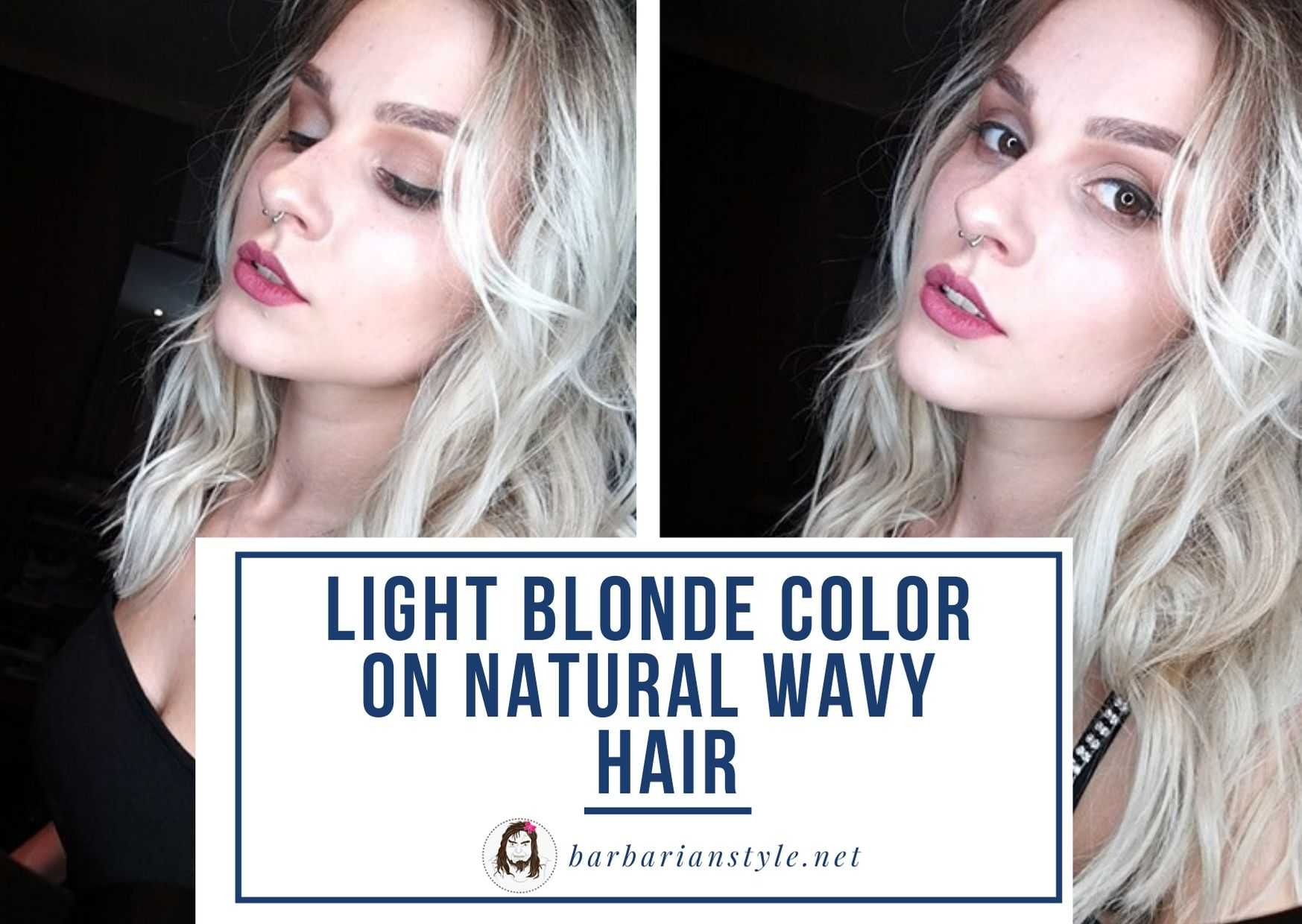 light blonde color on natural wavy hair