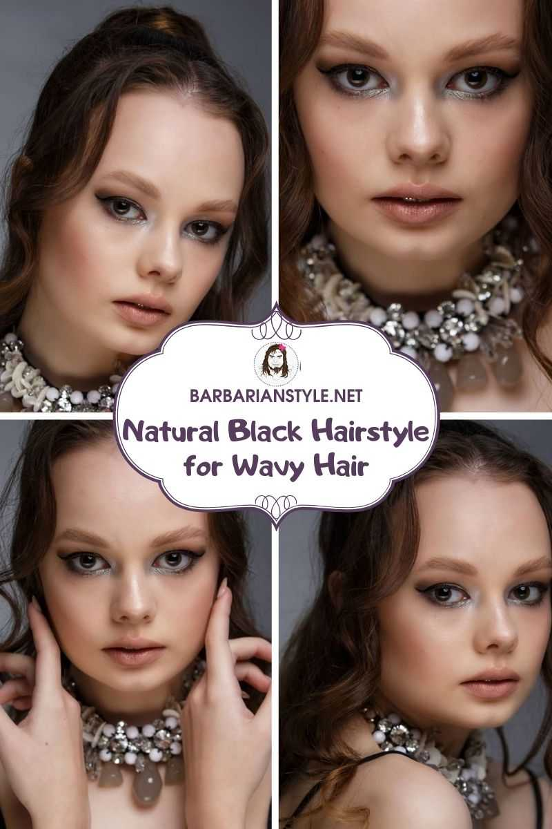 natural black hairstyle for wavy hair