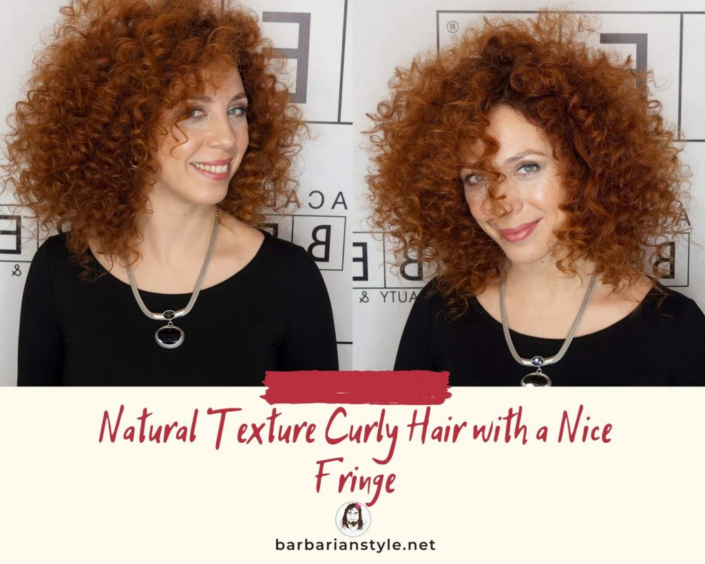 natural texture curly hair with a nice fringe