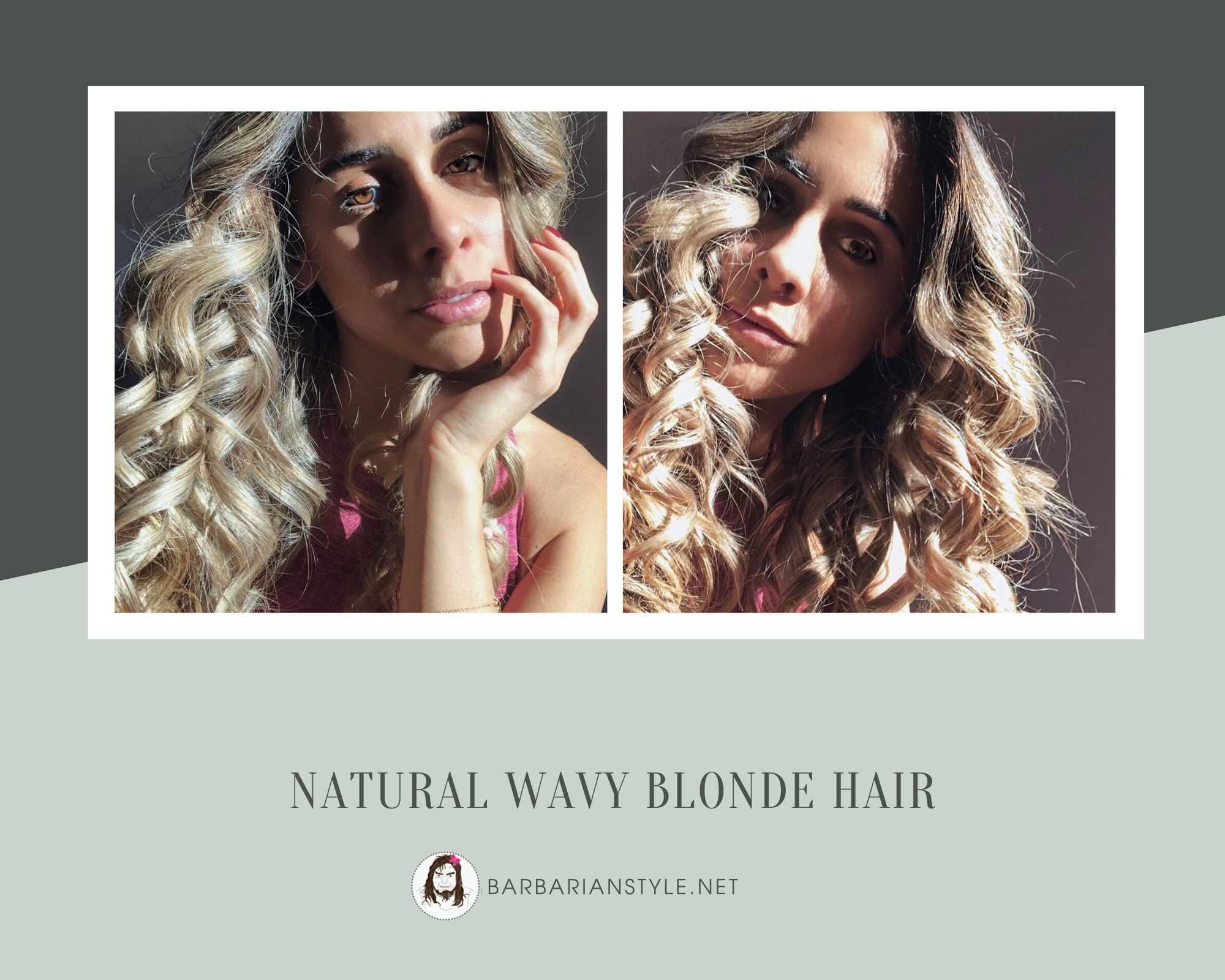 natural wavy blonde hair