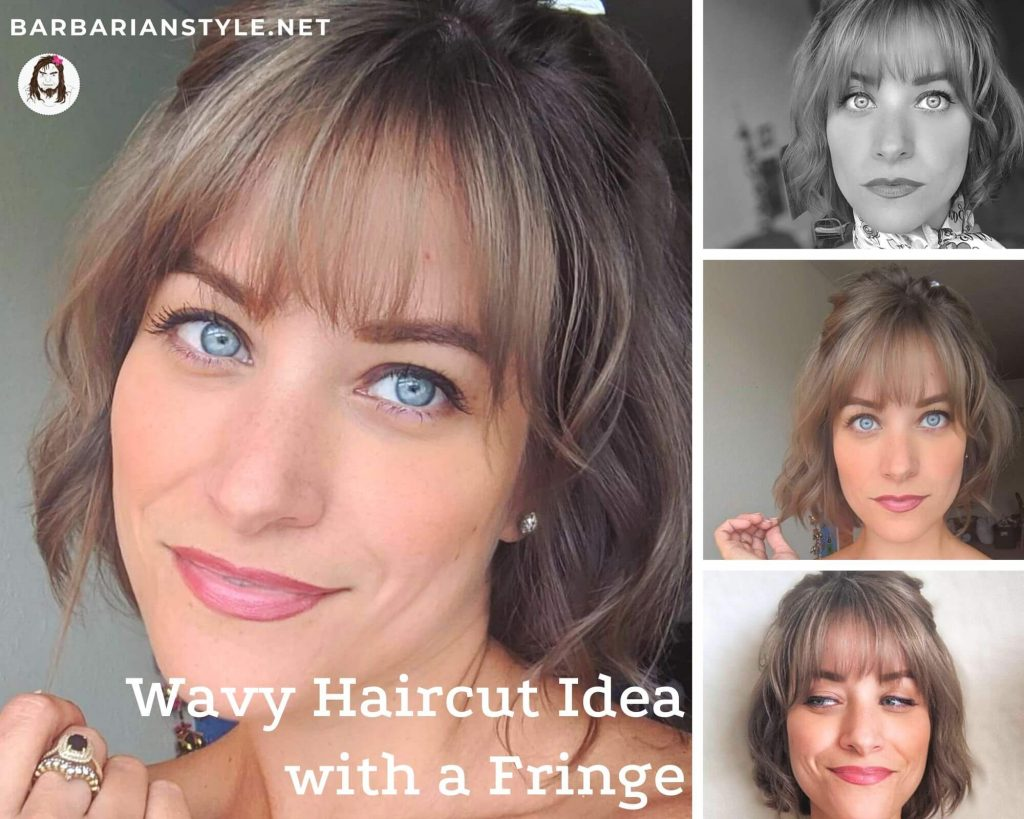 wavy haircut idea with a fringe