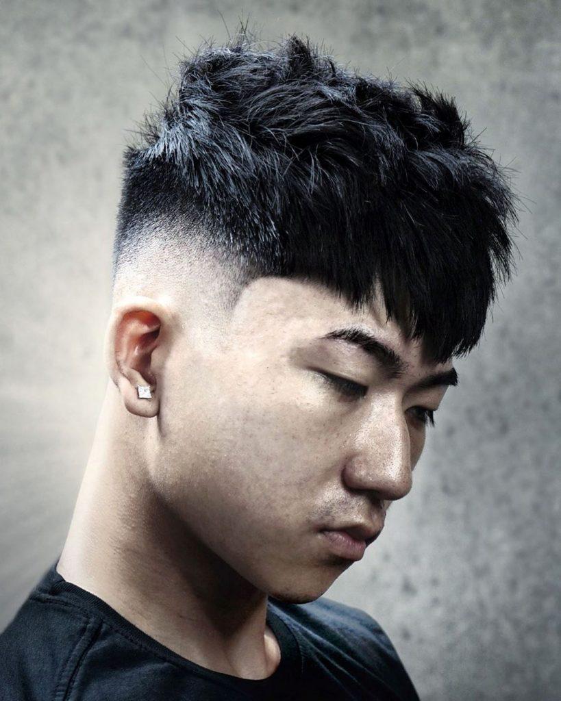 Asian Undercut with Fade
