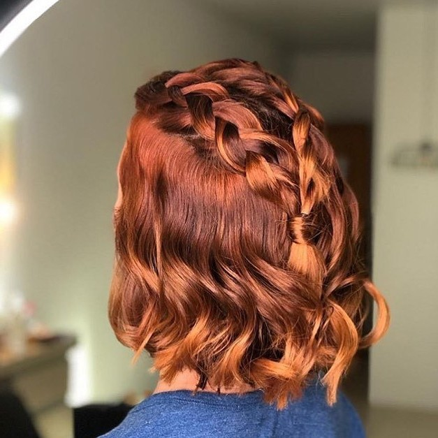 Best Short Hair Style with French Braid