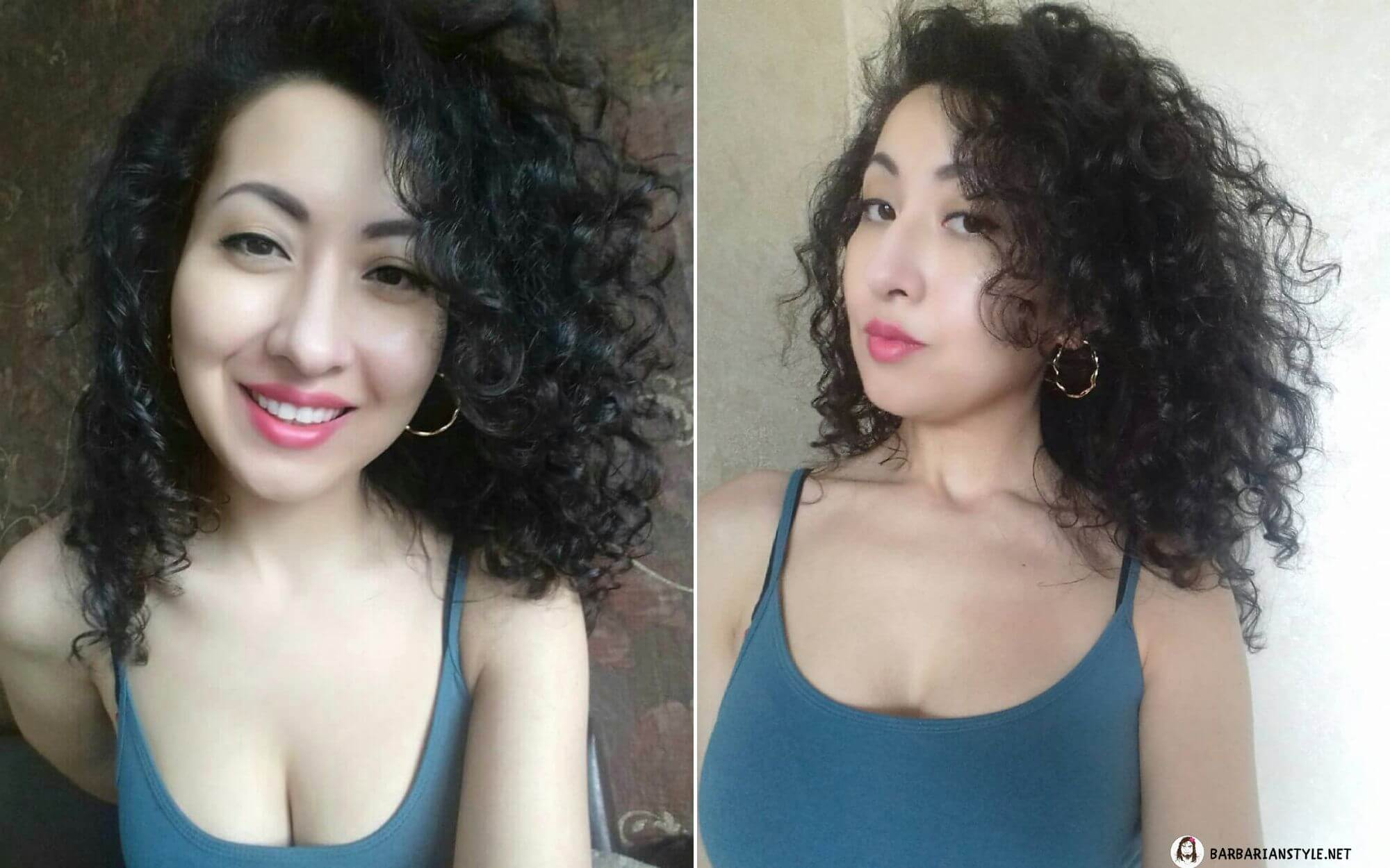 Black Hairstyle for Girls with Medium-Length Hair