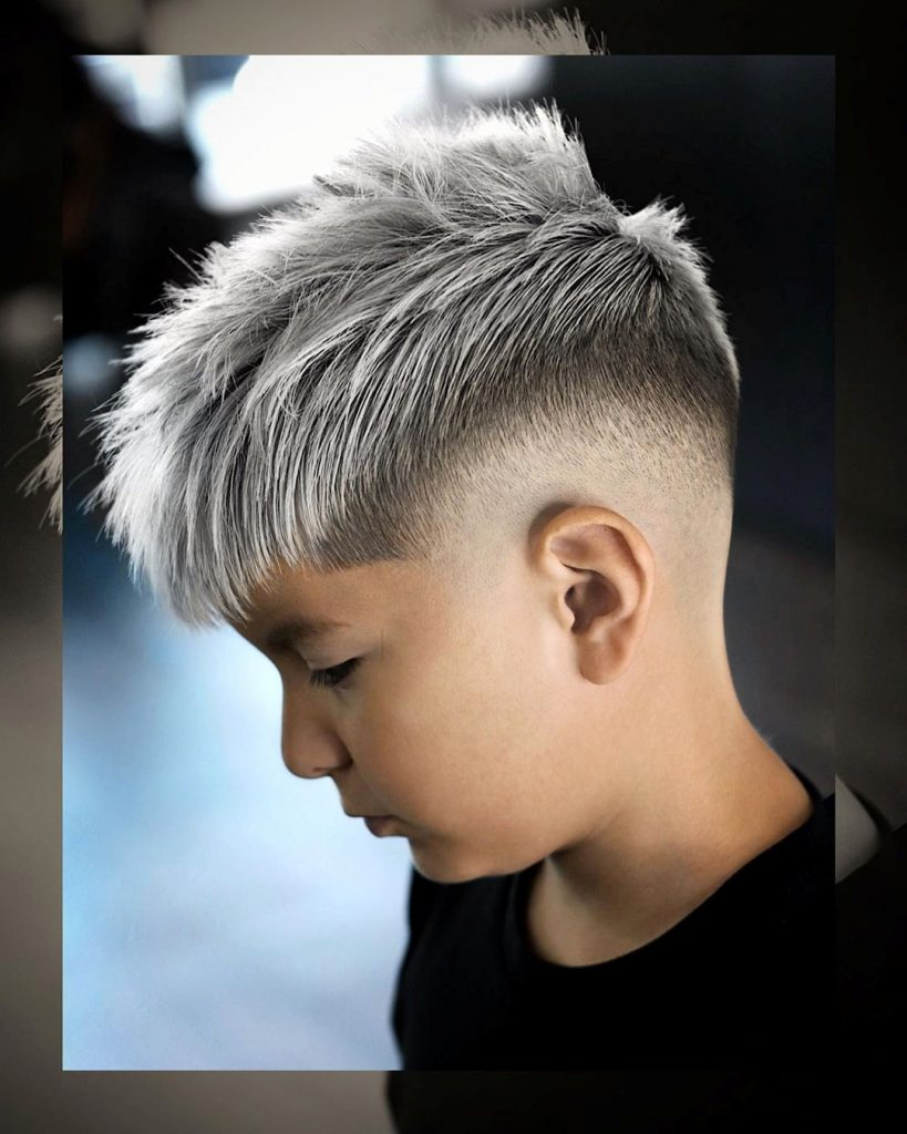 Boys Messy Undercut with a Fringe