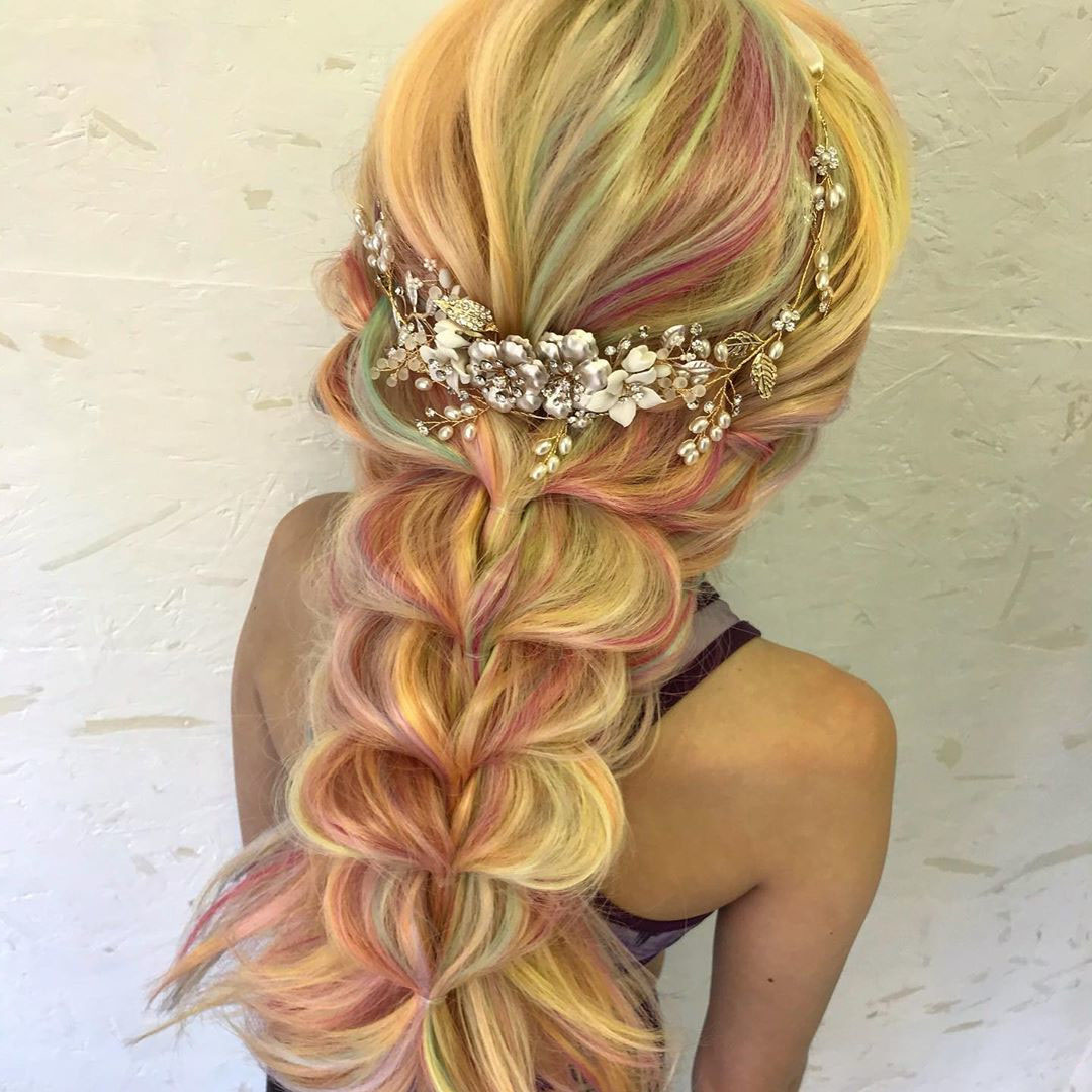 Braid Hairstyle for Long Curled Hair