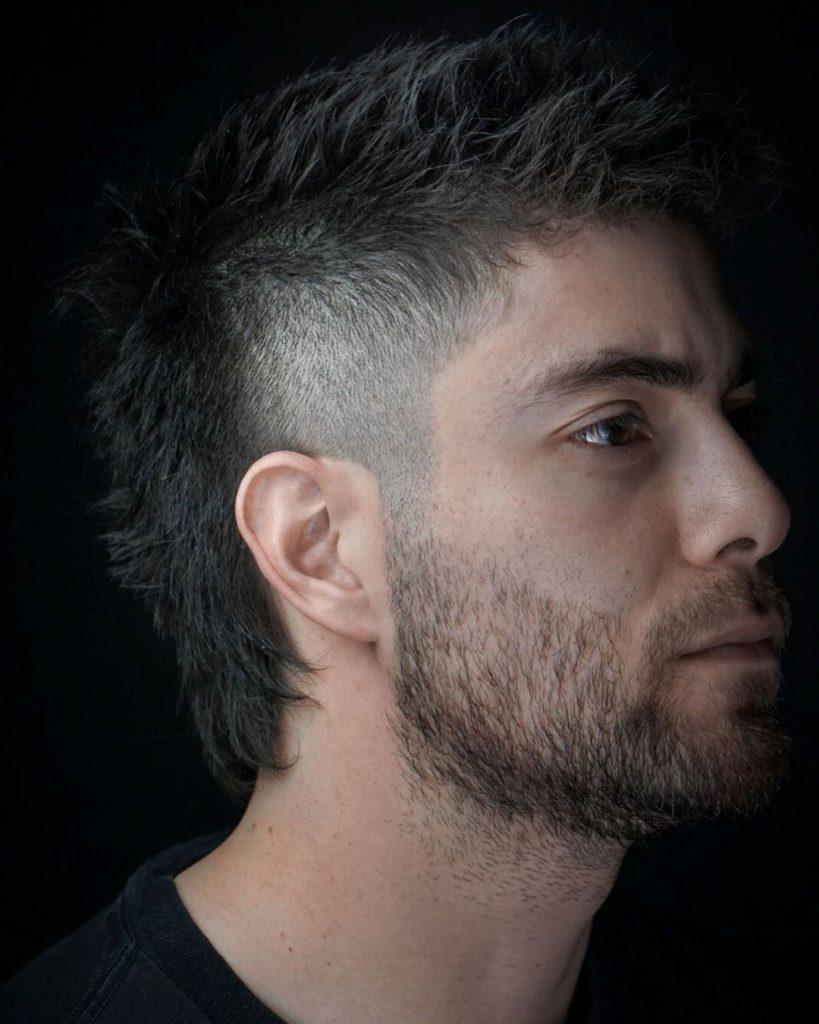 Burst Fade Mohawk + Line Up + Fresh Beard Design