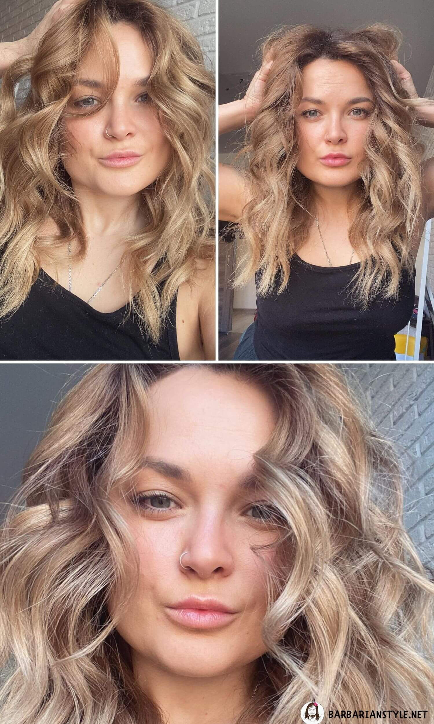 Cool Hairstyle for Natural Blonde Wavy Hair