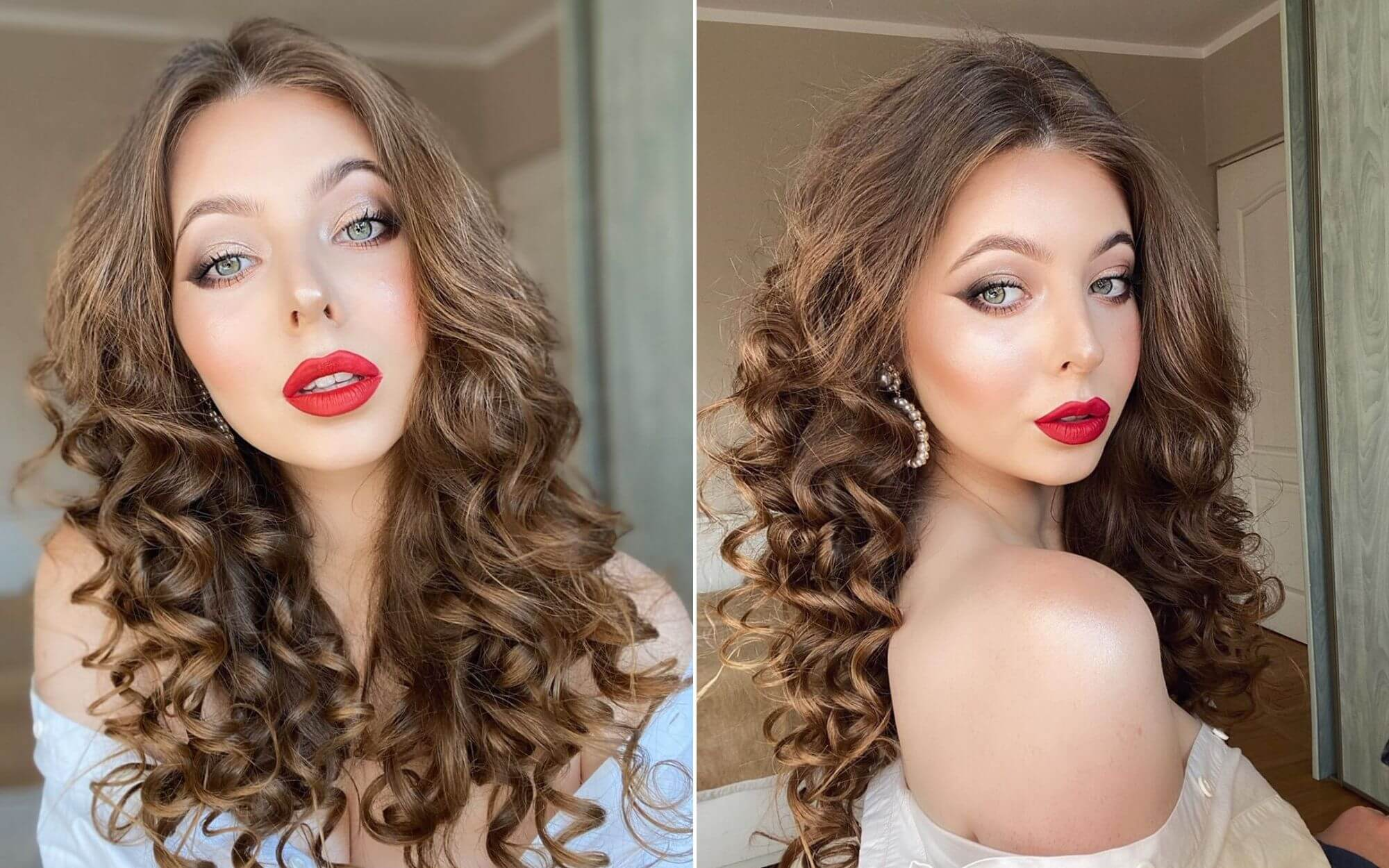 Curled Hairstyle for Girls with Long Hair