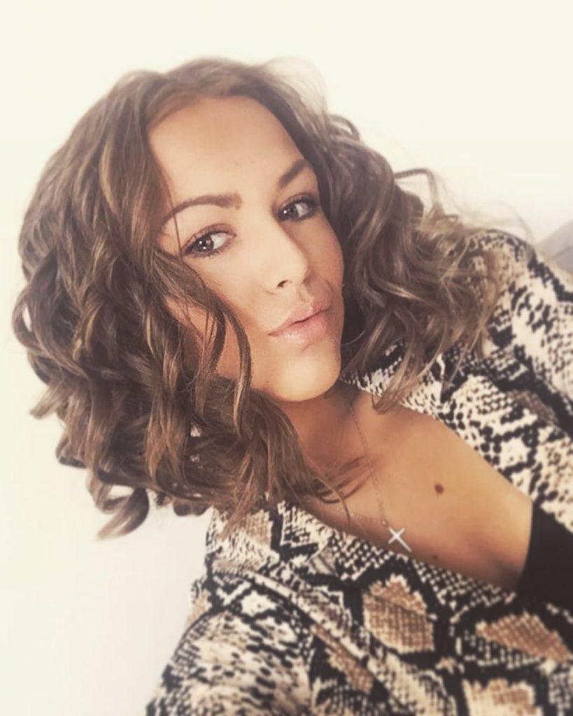 Dark Brown Balayage Short Curled Hairstyle