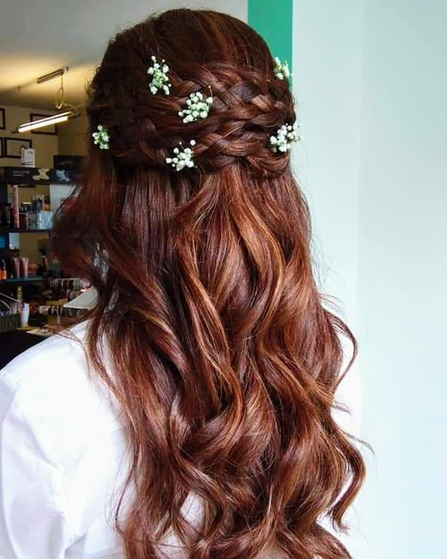 Great Braided Hairstyle for Long Wavy Hair