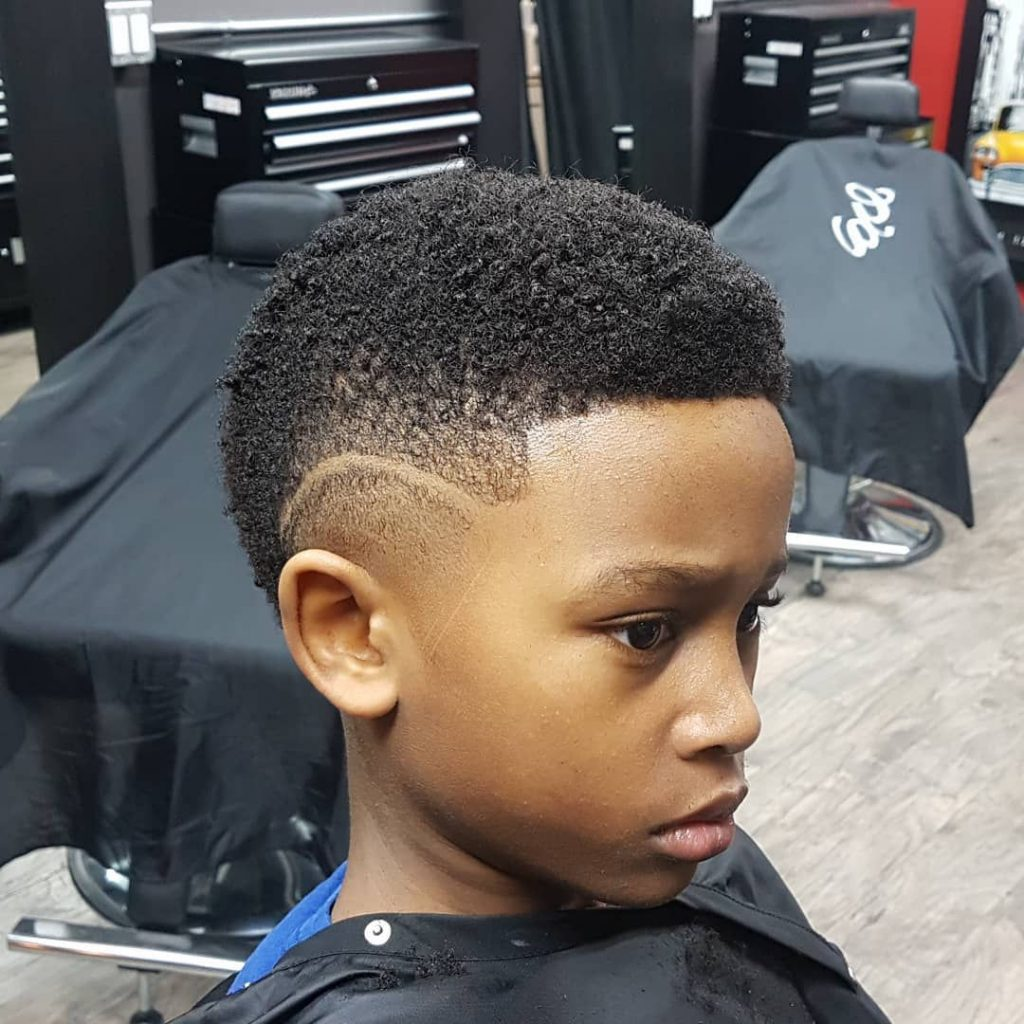 Great-Looking Short Disconnected Undercut for Boys