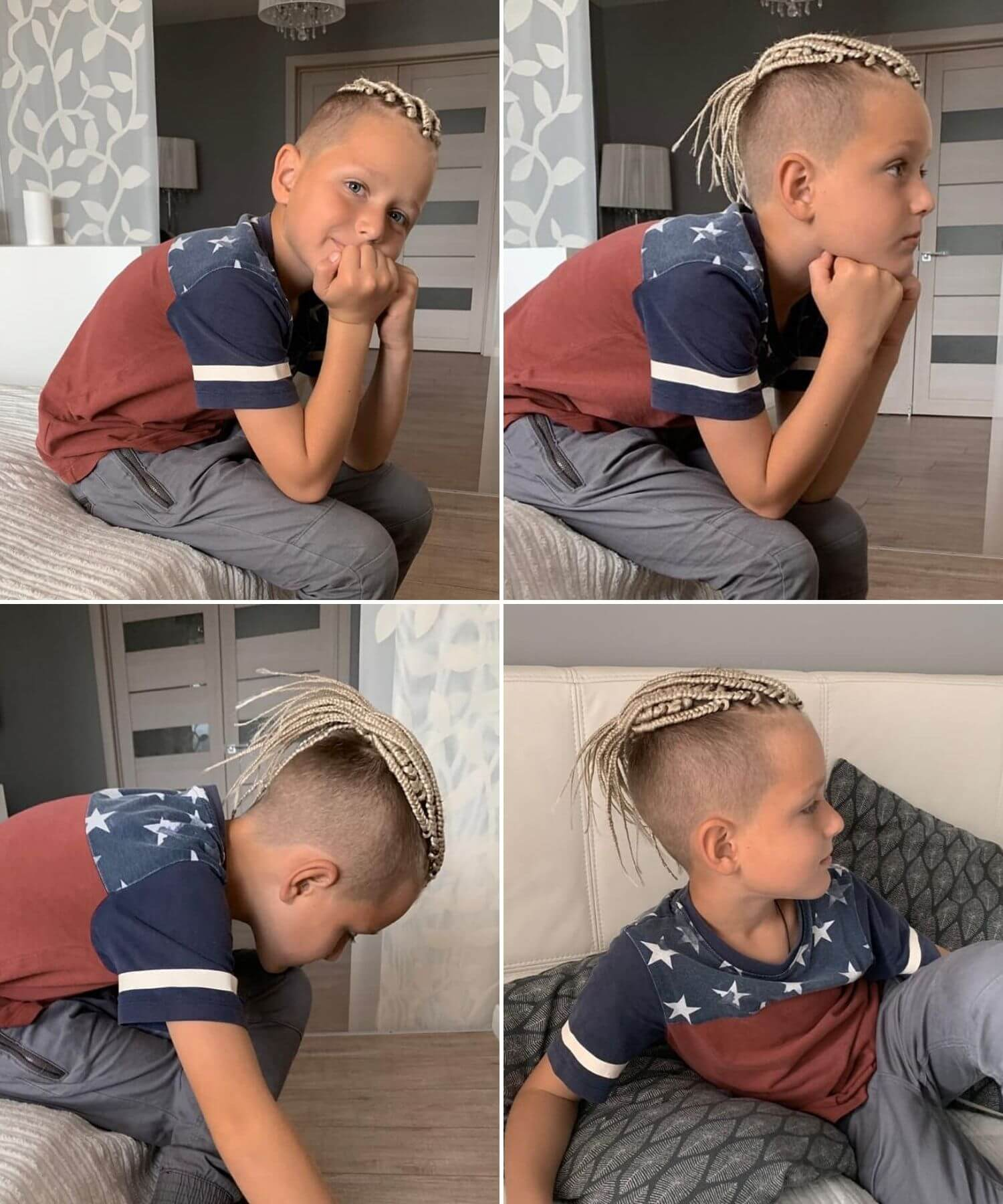 Great Short Undercut for Boys with Braids