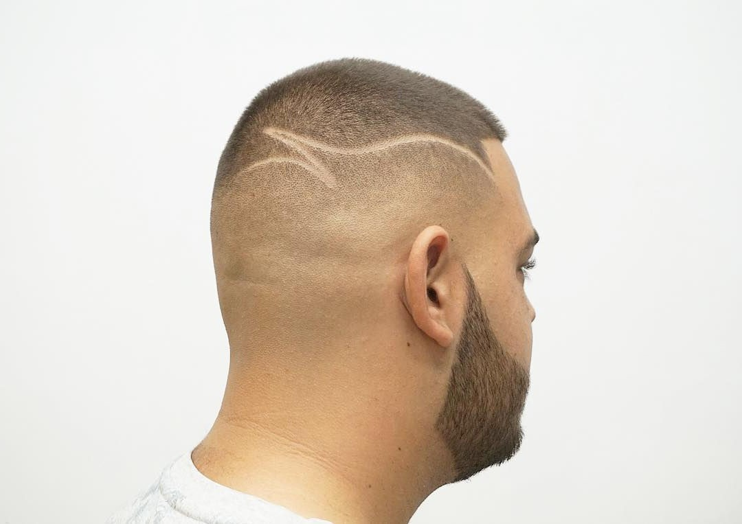 High-Faded Short Undercut with a Line for Cool Guys