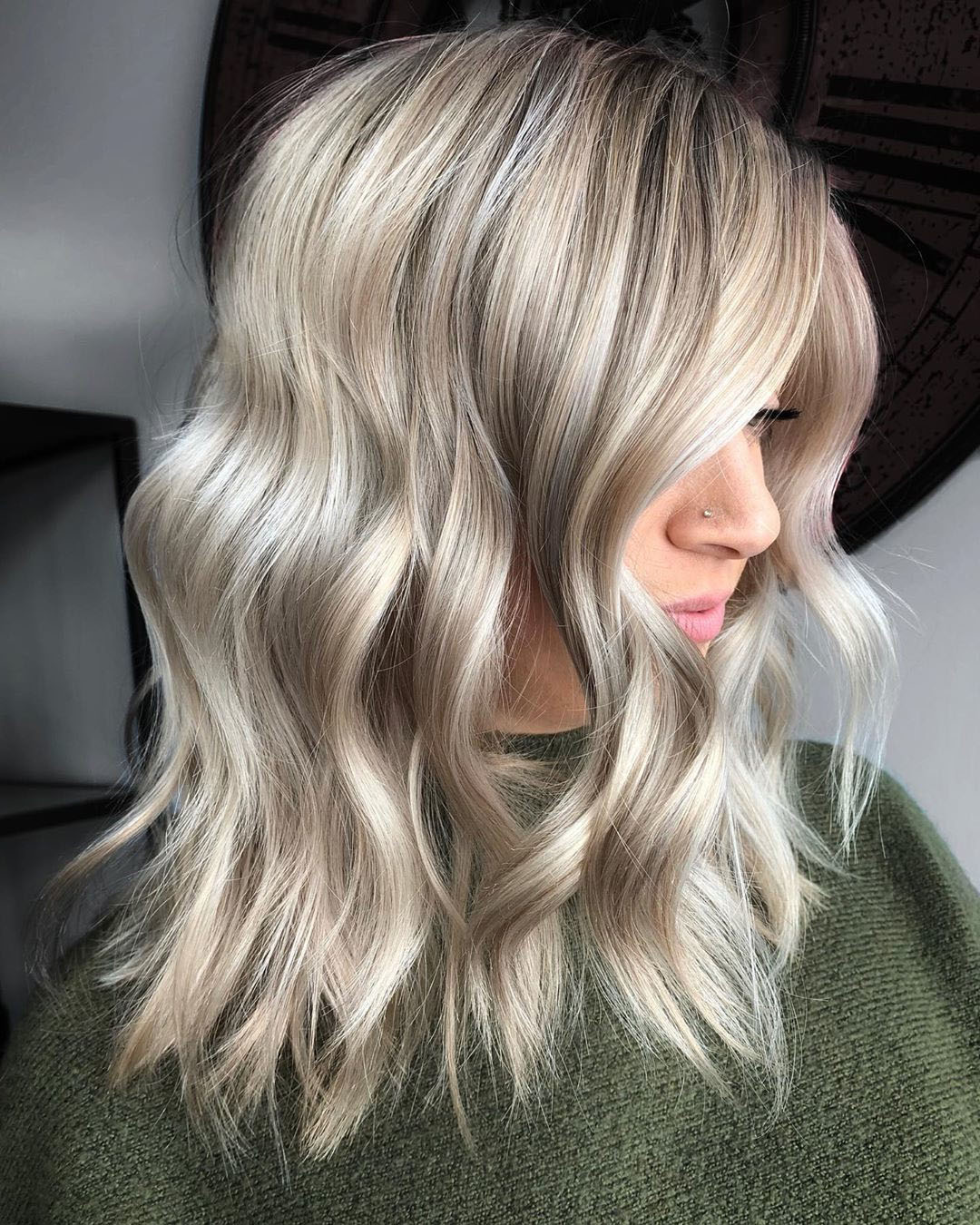 Long Bob Hairstyle for Natural Wavy Hair