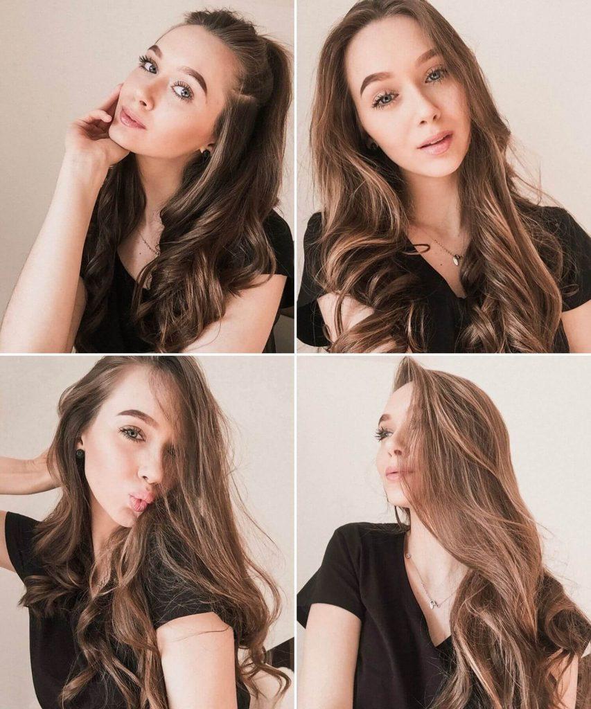 Long Brown Naturally Wavy Hair