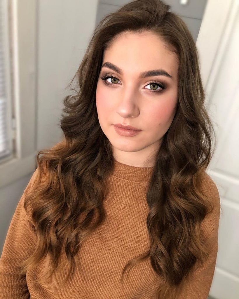 Long Layered Curled Brown Hair