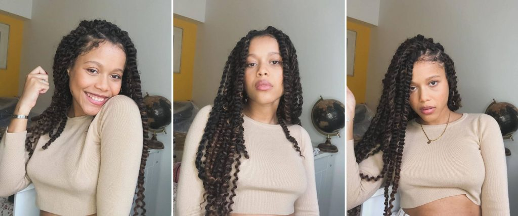 Long Natural Black Hairstyle for Curly Hair