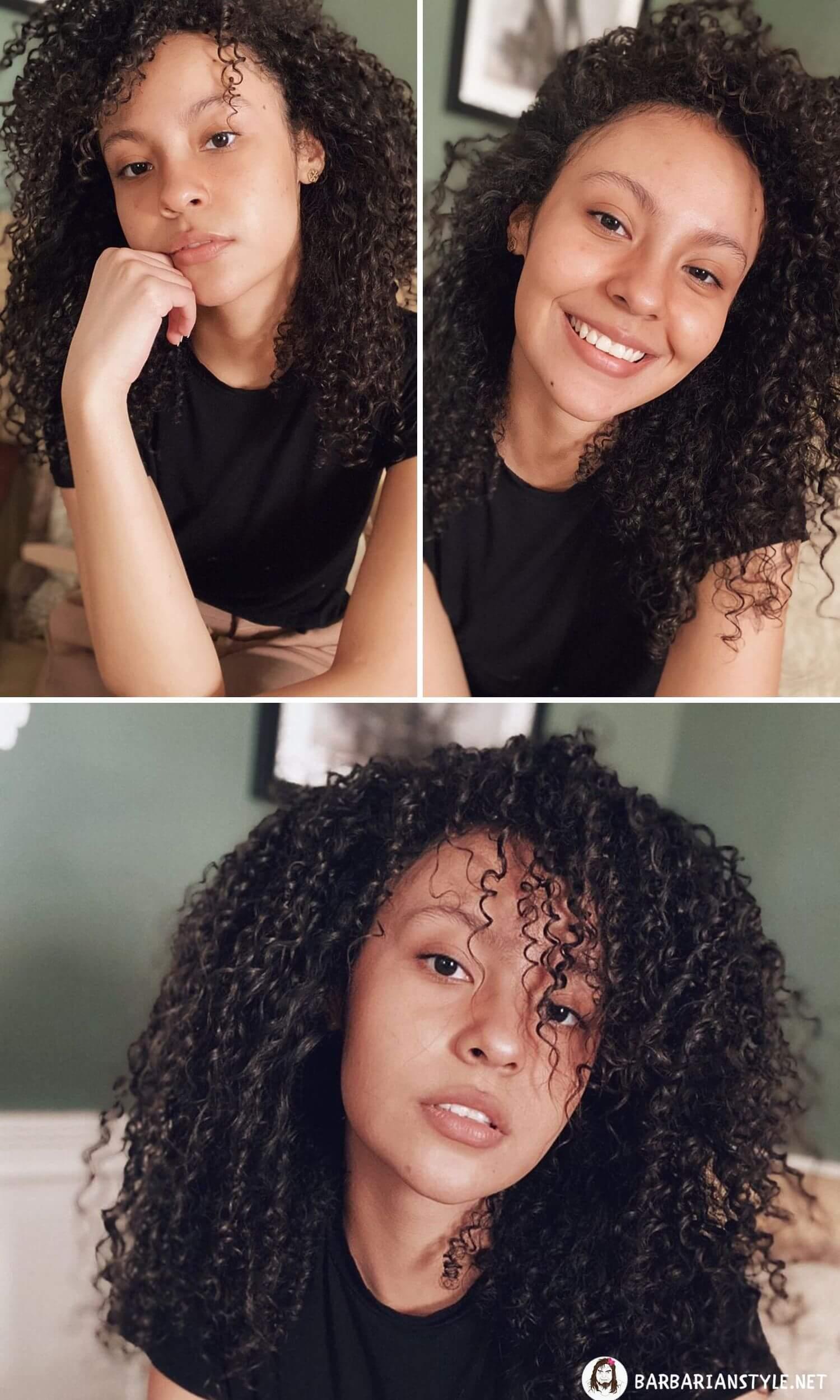 Medium-Length Black Hairstyle for Stylish Ladies