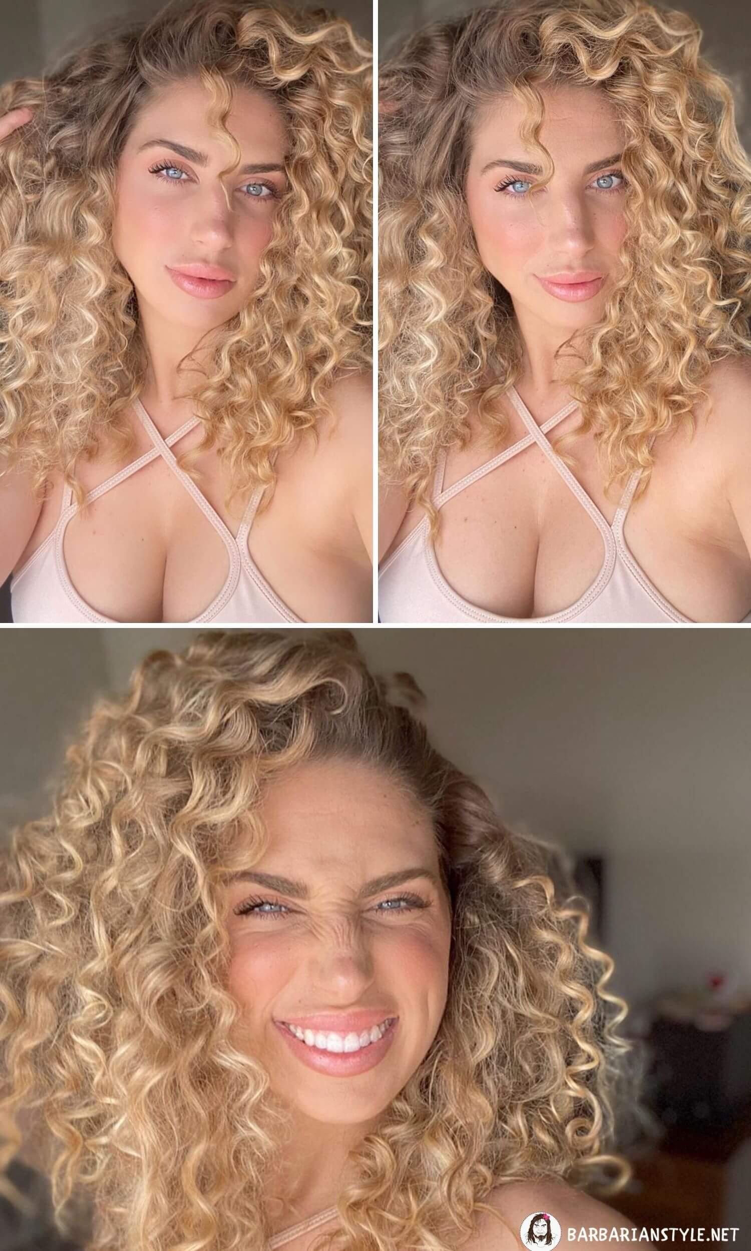 Medium-Length Curly Hairstyle