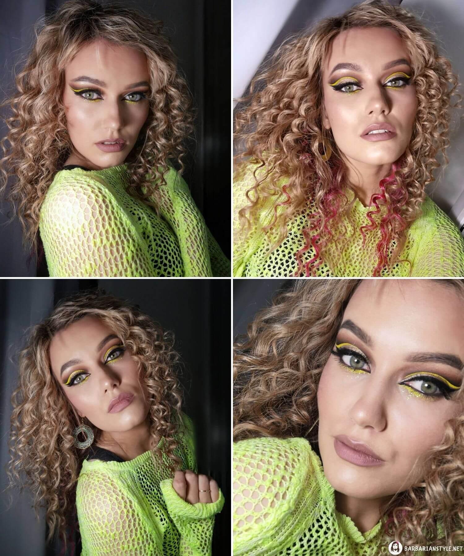 Medium-Length Haircut for Girls with Curled Hair