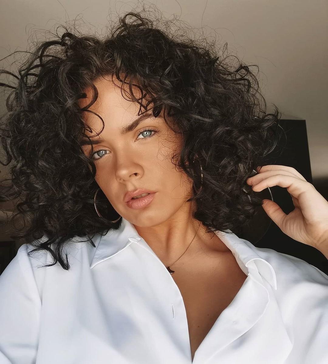 Medium-Length Haircut for Natural Black Color